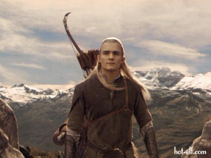 Legolas in the mountains leaving Rivendell