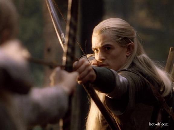 Legolas responding outside Lorien